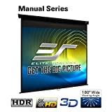 Elite Screens Manual Series, 71-INCH 1:1, Pull Down Manual Projector Screen with AUTO Lock, Movie Home Theater 8K / 4K Ultra HD 3D Ready, 2-Year Warranty, M71XWS1