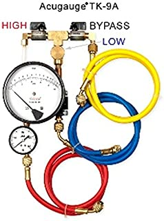 Acugauge TK9A PRO Backflow Test Kit Equipped with Extra Line Pressure Gauge
