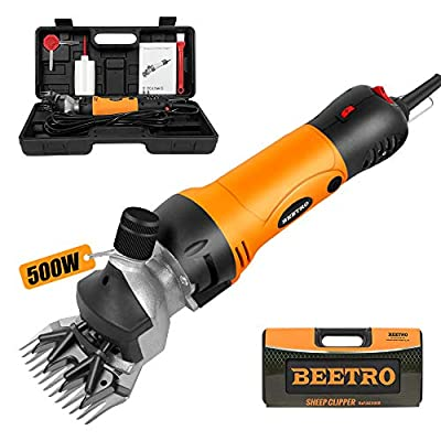 BEETRO 500W, Electric Professional Sheep Shears, Animal Grooming Clippers for Sheep Alpacas Goats and More, 6 Speeds Heavy Duty Farm Livestock Haircut from Beetro Co., Ltd