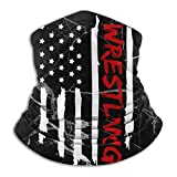 WRESTLING FLAG Neck Gaiter Warmer Face Mask for Men Women Outdoor Sports Washable Balaclava 10 X 11.6 in