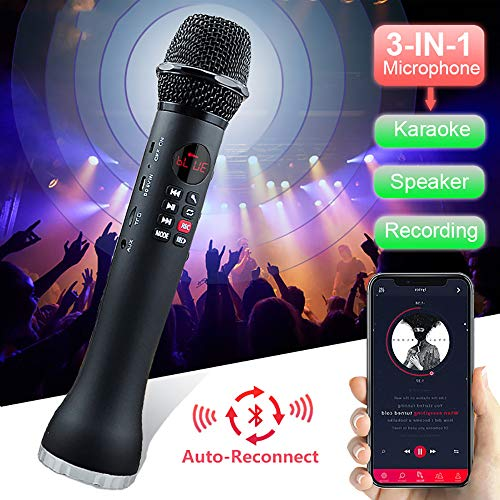 Draadloze Microfoon, Professional Wireless Handheld Karaoke Portable 3 in 1 Recording Speaker Huis KTV Player Voor Android & Ios
