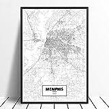 Leinwanddruck,Memphis Schwarz Weiß Benutzerdefinierte Welt
