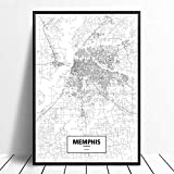 Serthny Druck auf Leinwand, Memphis Tennessee USA,