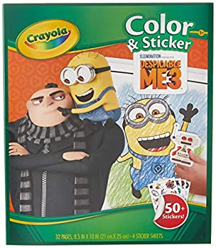 Crayola Despicable Me Color & Sticker Book Gift for Kids Age 3 4 5 6 Styles may vary