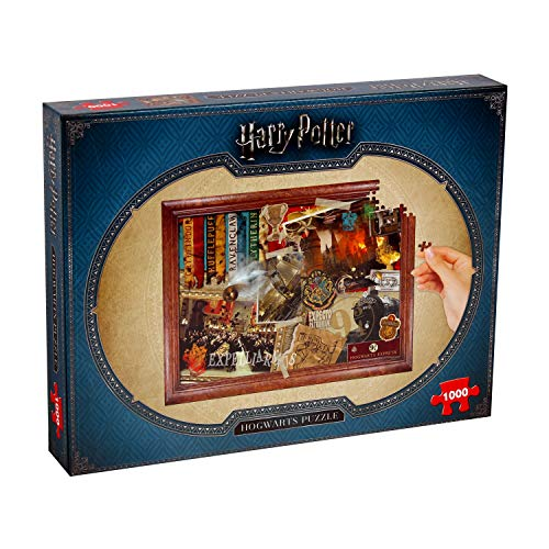 Winning Moves- Puzzle 1,000 Piezas de Harry Potter Hogwarts, Multicolor, estándar (2466)