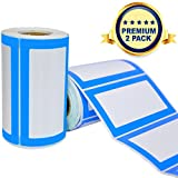 Etichette Adesive Colorate Personalizzate - 2 Rotoli da 500 Adesivi in Totale - 9 x 5 cm -...