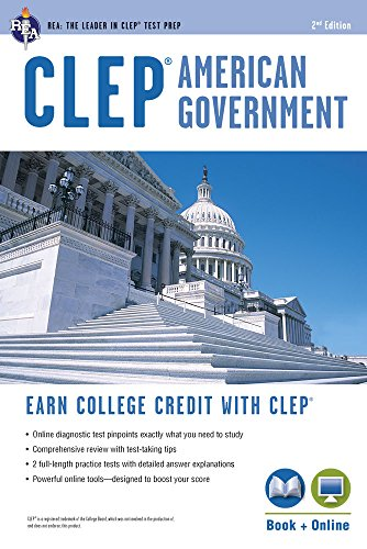 Compare Textbook Prices for CLEP® American Government Book + Online CLEP Test Preparation Second Edition, Revised Edition ISBN 9780738610382 by Jones Ph.D., Preston