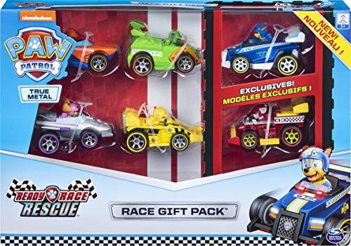 PAW Patrol True Metal Ready Race Rescue - Juego de 6 vehículos coleccionables de Coches de Carrera, Escala 1:55