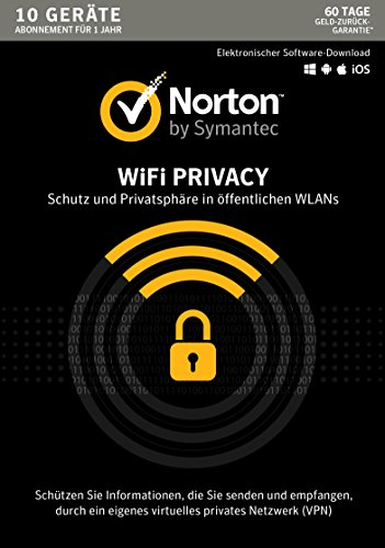 Norton WiFi Privacy | 10 Geräte | PC/Mac/Android | Aktivierungscode in Standardverpackung