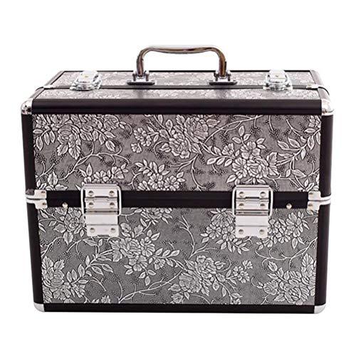 ZXCY Fachmann Make-Up Fall Beauty Box Make Up Nagellack Schmuck Kosmetik Vanity Case Organizer Tragbarer Reise-Make-Up-Koffer