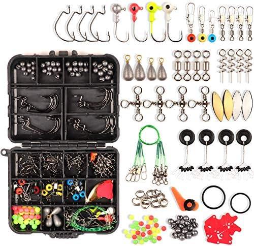 CYRUSGOLD Fishing Accessories Kit 187 Pcs Fishing Tackle Kit Box Set for Men s Fishing Equipment product image