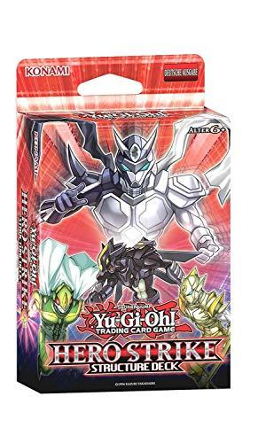 A YuGiOh Structure Deck Hero Strike | DEUTSCH | Yu-Gi-Oh! Karten NEU & GÜNSTIG | + Arkero-G 100 Small Soft Sleeves japanische Kartenhüllen