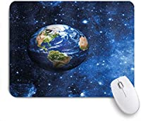 KAPANOUマウスパッド 地球をテーマにした画像の星の生命と太陽系の惑星地球の宇宙外の眺め ゲーミング オフィス おしゃれ 良い 滑り止めゴム底 ゲーミングなど適用 マウス 用ノートブックコンピュータマウスマット