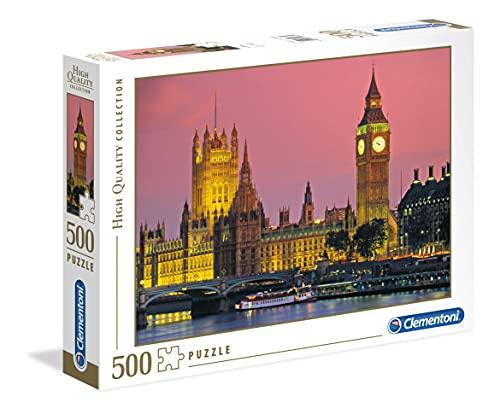 Clementoni-CM-30378 Los Pingüinos De Madagascar Puzzle 500 Piezas Londres, Color, 5+ (30378.6)