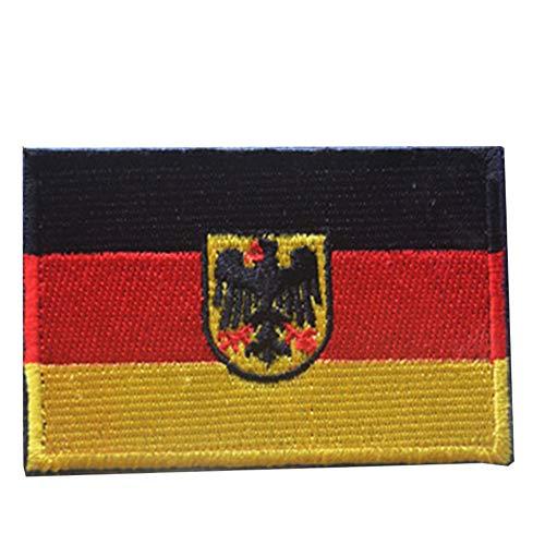 Zonfer Deutschland-flaggen-Eagle Shield Aufnäher Stickerei Abzeichen Armband Military Tactics Striped Verband Flagge Deutschland Nationalflagge