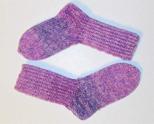 Selbstgestrickt/Handgemacht/Socken/Wollsocken/Kindersocken/Onlinewolle/Fußlänge 14 cm/Mädchen/Junge / 6 ply-fädig