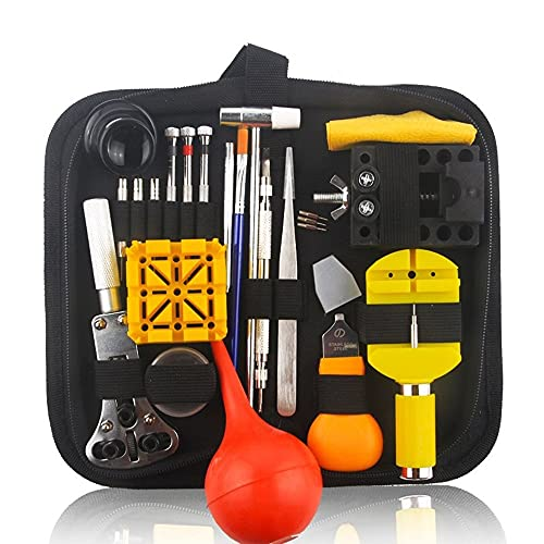 Kit de Reparación de Relojes Mira la herramienta de reparación de la herramienta de reparación de la herramienta de remoción de la correa de la correa Juego de herramientas de la herramienta con estuc