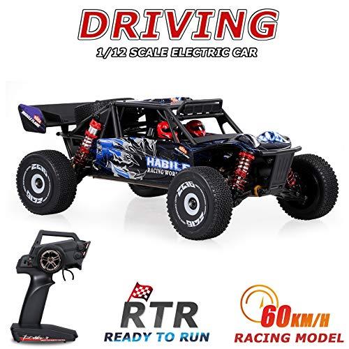 Goolsky124018 Hochgeschwindigkeits-Rennwagen 60 km / h 1/12 2,4 GHz RC-Car-Offroad-Driftwagen RTR 4WD mit Aluminiumlegierungs-Chassis Zinklegierungsgetriebe