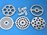 6-pc Set replacement knife and discs for Waring Pro Kalorik, Sunmile, Oster, Rival, Back to Basics Meat grinder