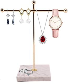 Jewelry Accessory Stand T-Shaped Holder Desktop Hanging Towel Display Organizer Storage Metal Earrings Necklace Ring Brace...