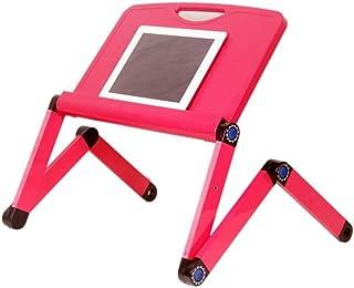 WHHWYD Soporte Perezoso de Aluminio de la Mesa del Escritorio de la computadora de la Cama del Cuaderno con el Ventilador del radiador
