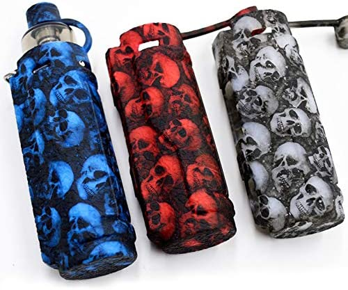 Silicone Case for Voopoo Argus Pro Kit AntiSlip Cover Shield Sleeve Wrap Decal Skin Black Red