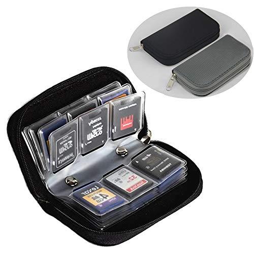 FunYoung Custodia per schede di memoria SD, custodia per schede di memoria da viaggio (set da 2)