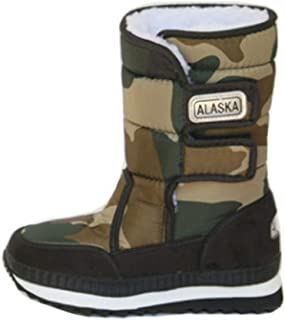 Tiancay Snow Boots Winter Shoes Warm Snow Shoes Black Warm Women's Tube Rubber Sole Personality (Color : Green, Size : 35)
