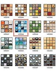 50 Piezas de Pegatinas de Azulejos Estilo Retro Mosaico Adhesivo Pegatinas Autoadhesivas Para Azulejos DIY Baño Cocina Pegatinas de Decoración Adhesivos de Pared