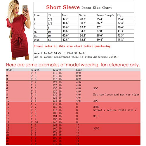 Longwu-Womens-Elegant-Comfortable-Casual-Short-Sleeve-Pencil-Dress-with-Belt-Pockets-for-WorkLounge-Wear