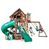Backyard Discovery Skyfort with Tube Slide, Green/Brown