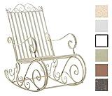 Mecedora De Hierro Smilla I Mecedora Relax De Jardín I Mecedora De Exterior En Estilo Rústico I Sillón Mecedora De Balcón o Terraza I Color:, Color:Crema Envejecido