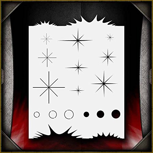 Sparkle Freehander AirSick Airbrush Stencil Art Design Template