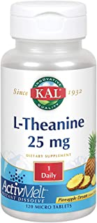 Kal 25 Mg L-theanine Tablets, Pineapple, 120 Count