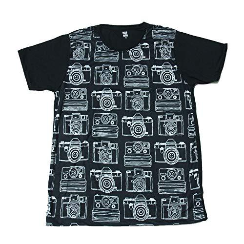 (MAO MAO) プリントTシャツ カメラ インスタ おもしろTシャツ 半袖 メンズ [並行輸入品]