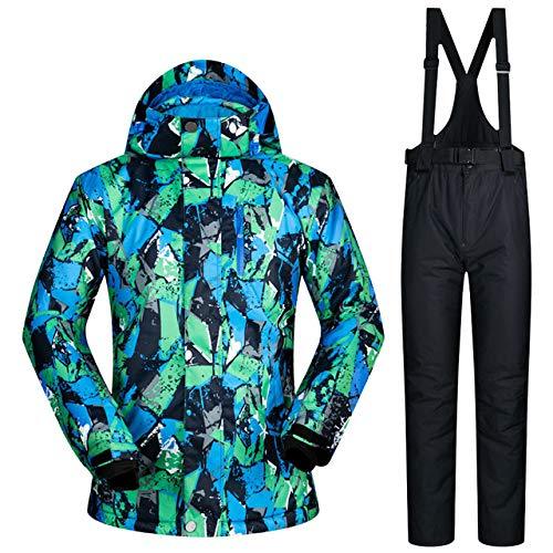 MEOBHI Skipakken ski-jack en -broek merk heren winter warme ski- en snowboarpakken jasbroek winddicht waterdichte kleding heren skipakken