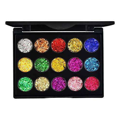 3D Shadow Gradient Eyes Make-up-Paletten, 17 Farben Shimmer Glitter Highlight Perlmutt...