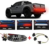 60 Inch 2-Row Tailgate Light Bar, LED Tail Lights(Turn Signal, Running, Brake, Reverse Backup) - Waterproof 5 Fcunction led Brake Light Strip with 4 Way Flat Y-Splitter Light Bars for Trucks Pickup