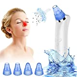SHIRUI Blackhead Vacuum Remover Electric Pore Vacuum Blackhead Removal Blackhead Acne Extractor Suction Tool Pore Cleaner With 4 Adjustable Blackhead Suction Probes for Facial Skin.