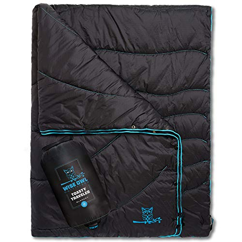 Wise Owl Outfitters Camping Blankets - Puffy, Packable, Lightweight & Compact Insulated Camping...
