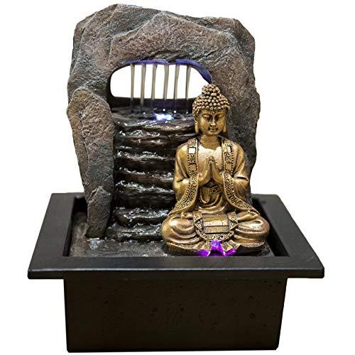 Zen\'Light Brunnen Zen Dao Harz, Bronze, 21 x 17 x 25 cm
