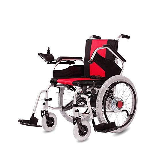 MMJC Silla de Ruedas eléctrica Silla de Movilidad Plegable Silla de Ruedas motorizada automatizada portátil Transporte eléctrico Duradero Plegable