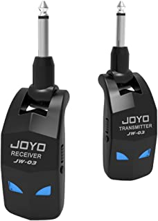 JOYO 2.4GHz Wireless Guitar System 4 Channels Guitar Wireless Transmitter Receiver System with Built-in Rechargeable Lithi...