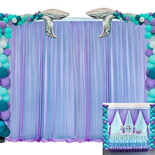 Mermaid Purple Background Curtain White Buy Online In China At Desertcart