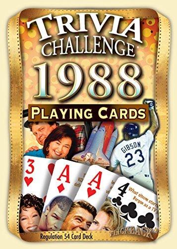 Flickback Media, Inc. 1988 Trivia carte da gioco: Happy 31st Birthday o 31st
