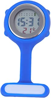 ibasenice Broche de Reloj de Enfermera - Reloj de Bolsillo Digital multifunción Reloj de Enfermera de Silicona con Pin bro...