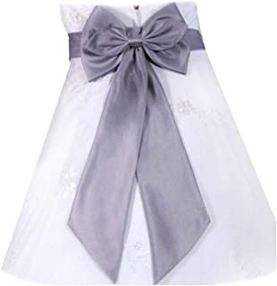 SACASUSA (TM) Bridal Wedding Flower Girl Adjustable Sash Belt Satin bow in 10 colors
