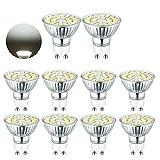 MTJL Bombilla LED GU10, 5 W, 450 lúmenes, 6000 K, luz blanca diurna, equivalente a bombillas halógenas de 50 W, ángulo de dispersión de 110 grados, no regulable, 10 unidades