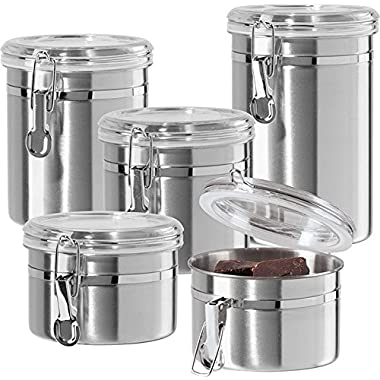 Oggi 5 piece Stainless Steel Canister Set 9325