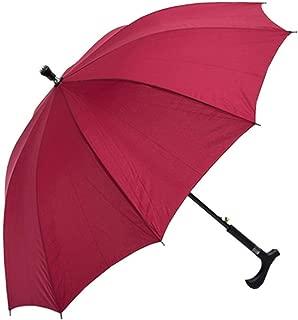 YQRYP 2-in-1 Climbing Hiking Walking Stick Crutch Windproof Anti-UV Rain Sun Umbrella Windproof Umbrella, Golf Umbrella (Color : Red)